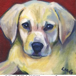 Custom pet painting of dog, Pearl