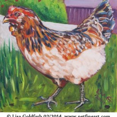 Chicken painting: Blanche, the hen