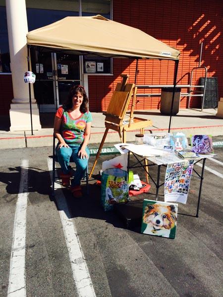 lisa goldfarb painting at Petco