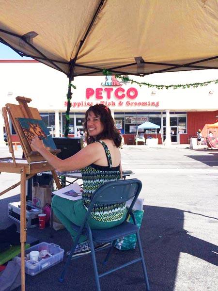 lisa-goldfarb-paints-at-petco