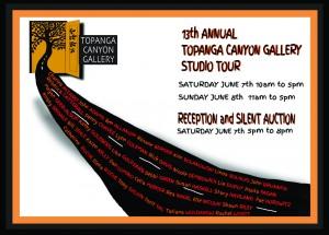 topanga canyon studio tour 2014 postcard