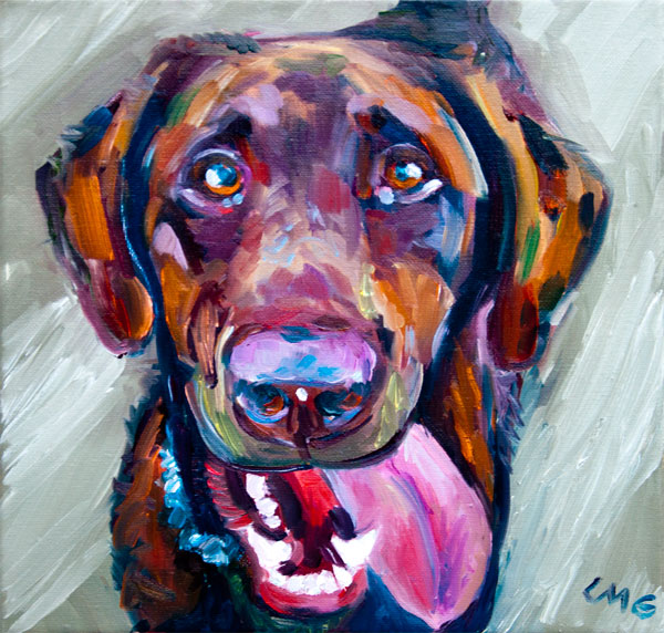 Portrait of Fred. 12in x 12in oil painting on canvas.