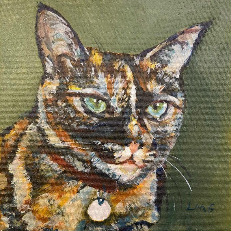 painting of a cat